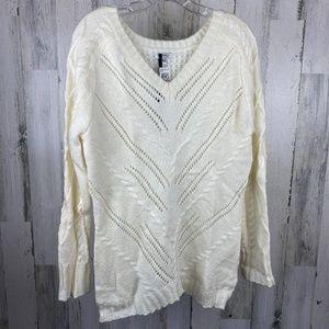 Buffalo David Bitton XL Cream Color Sweater NWT